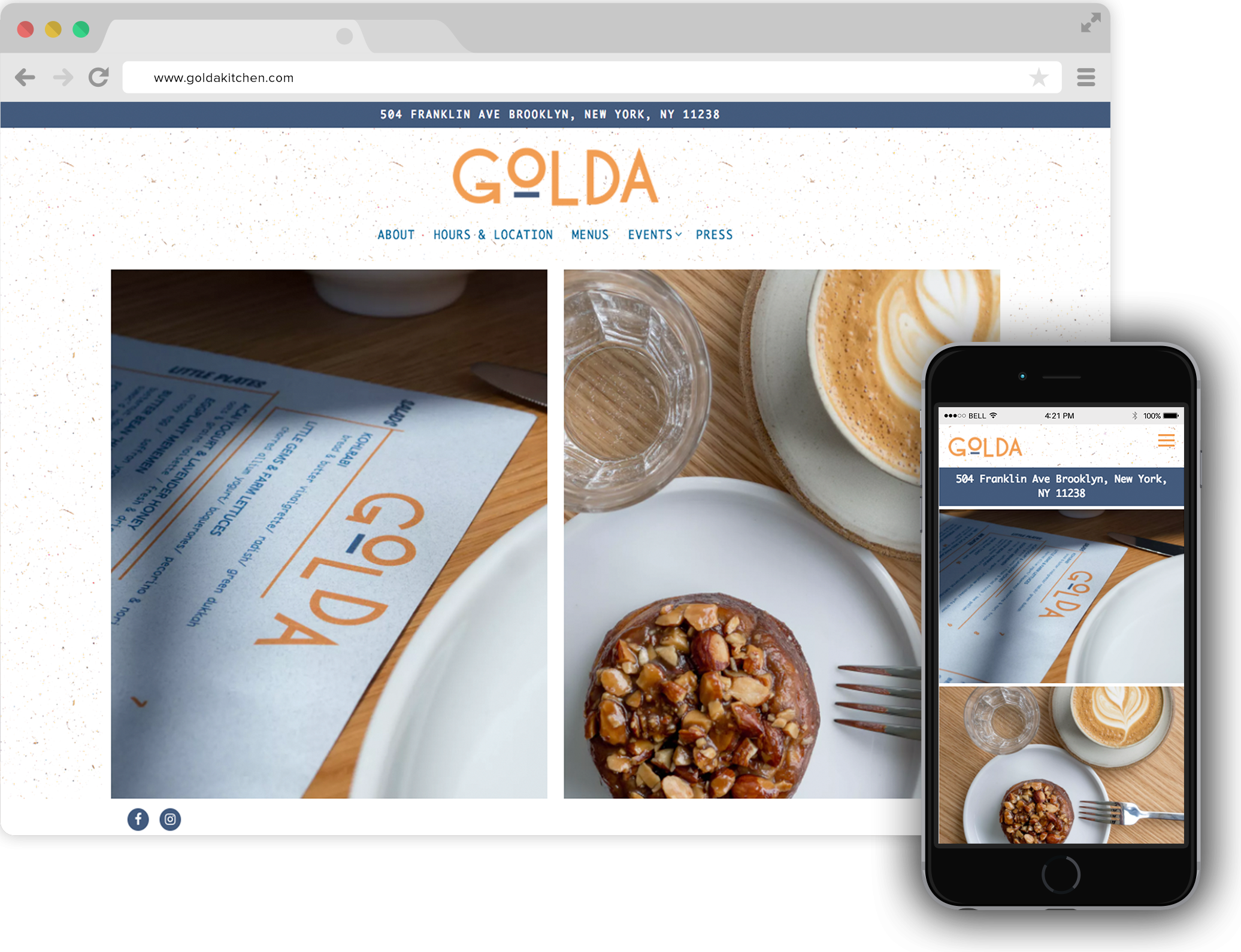 Golda Restaurant Website