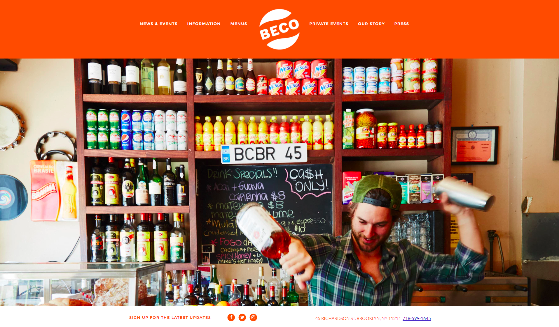 Beco Restaurant's homepage