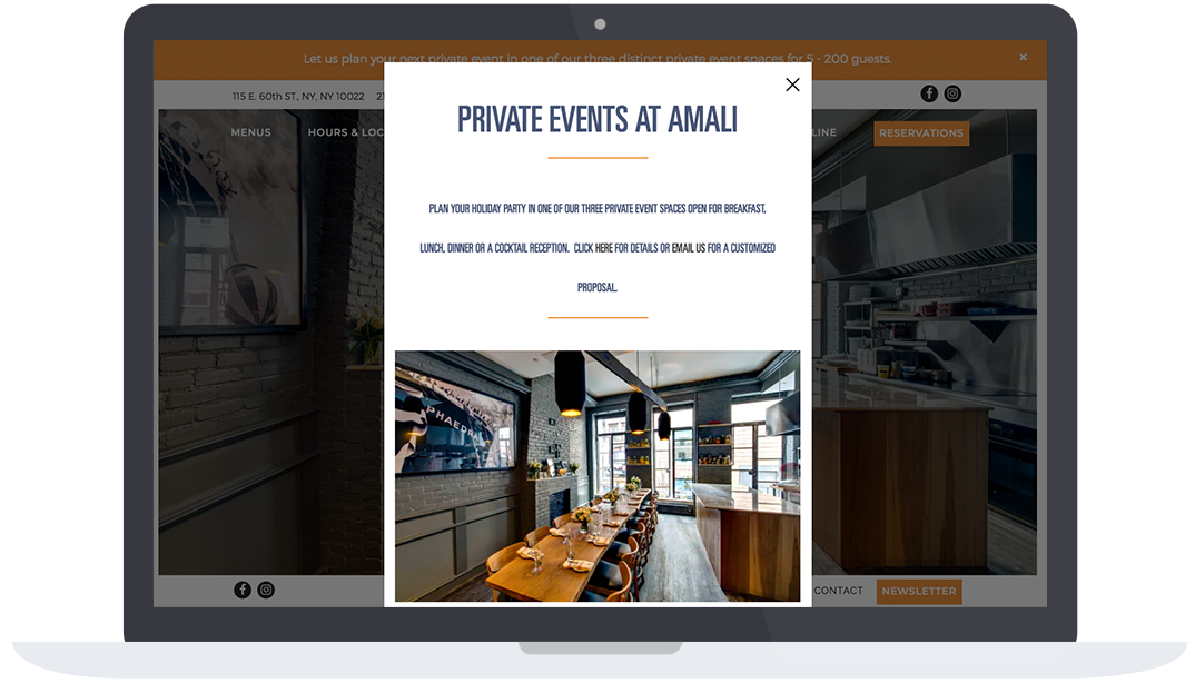 Private Events at Amali