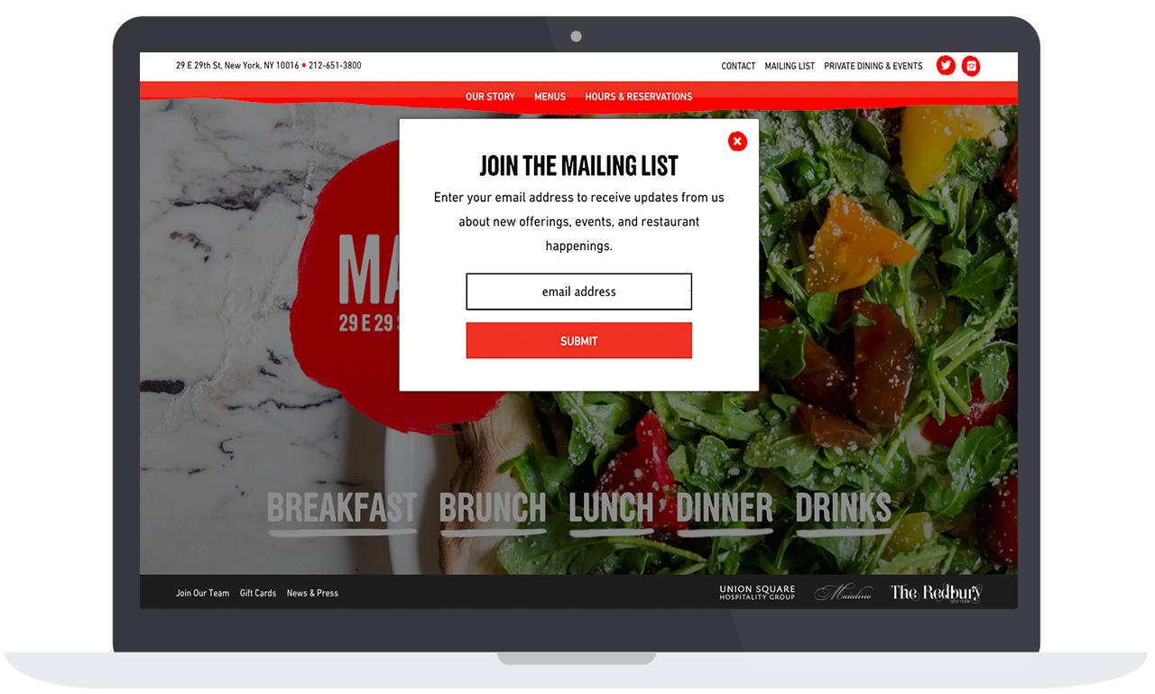 marta restaurant email list