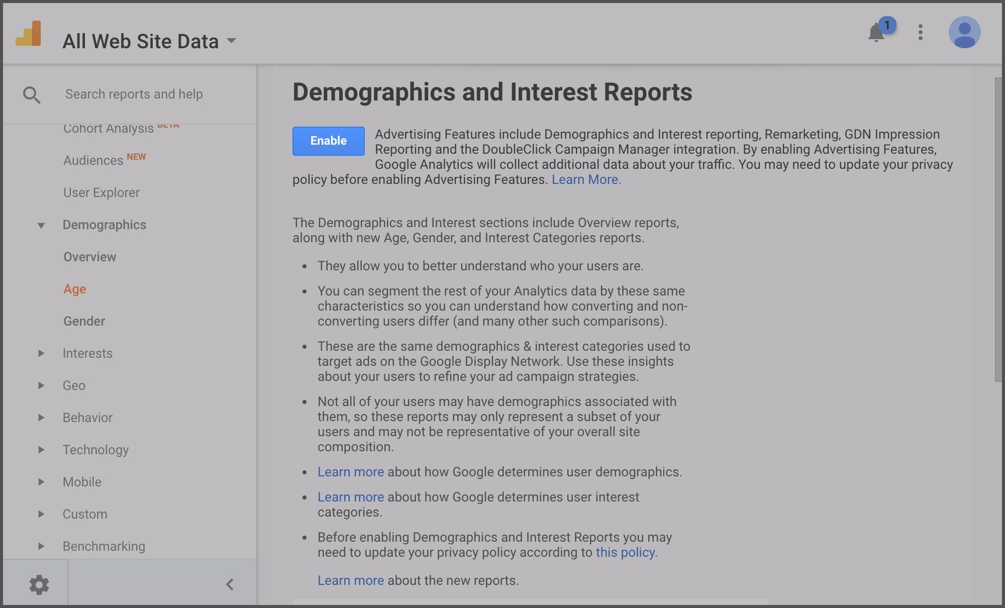 demographics, step 2