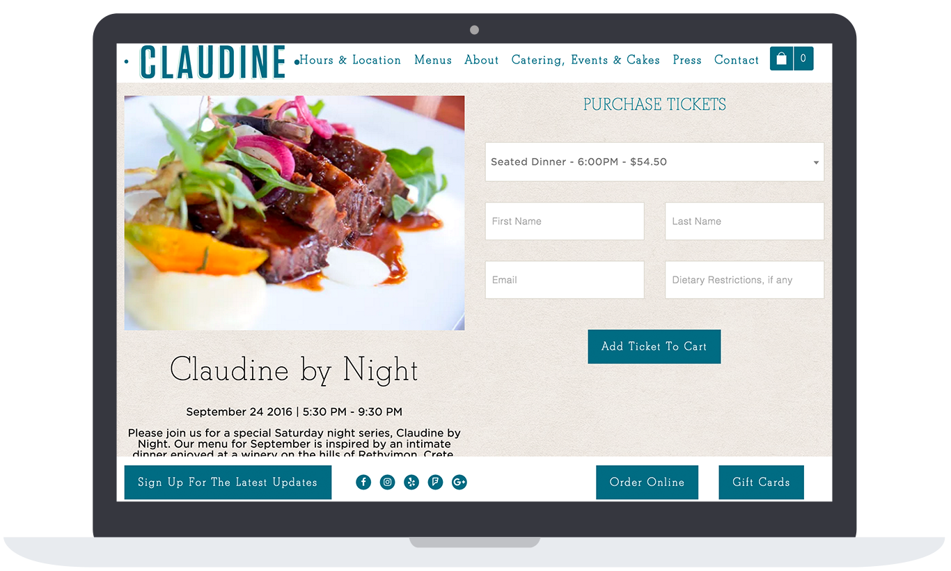 claudine by night event