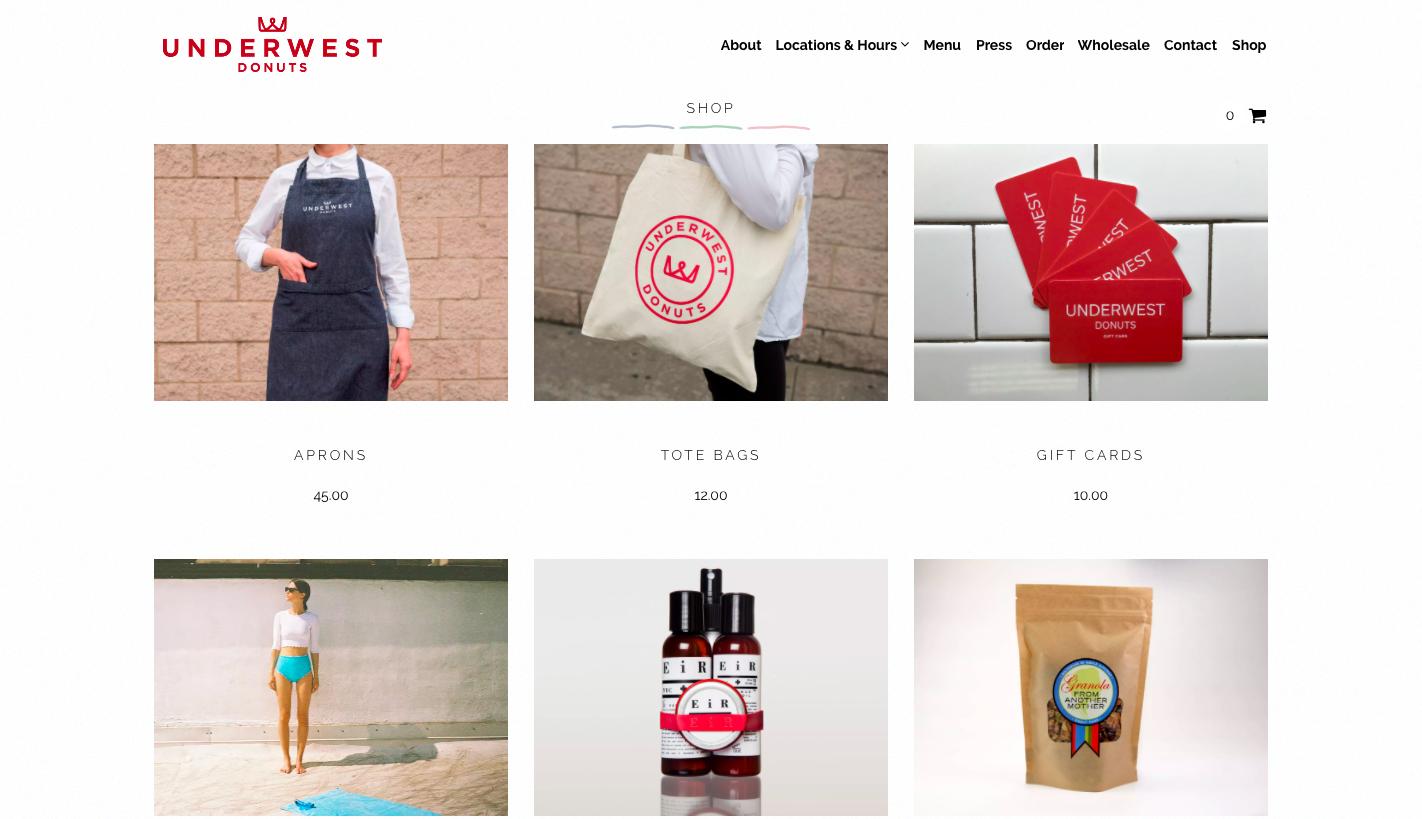 underwest donuts shop online
