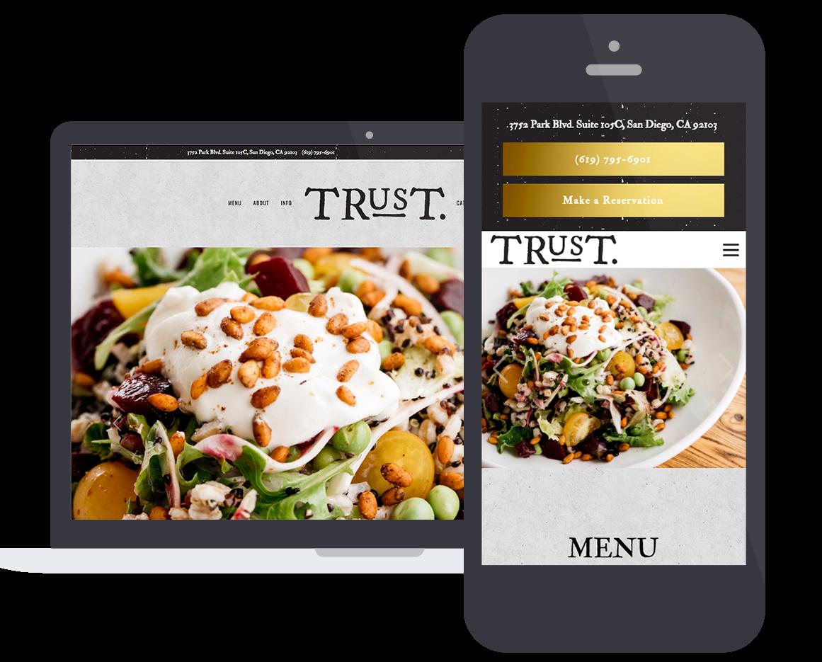 trust restaurant mobile responsive