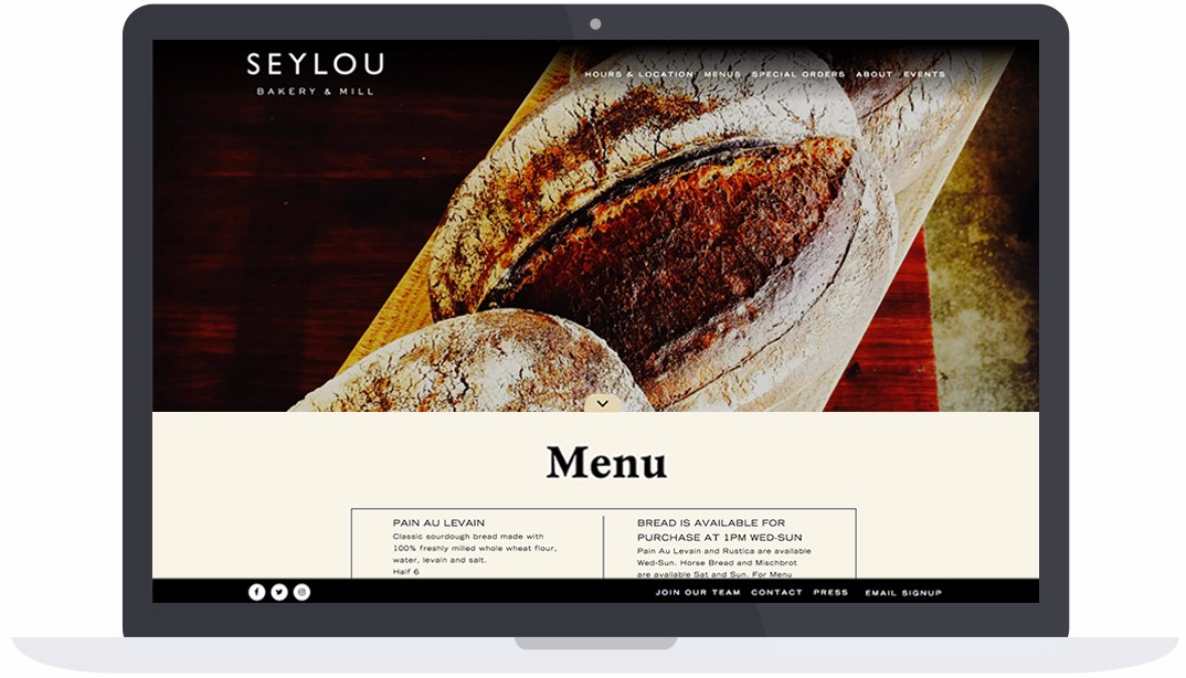 Seylou Website Menu