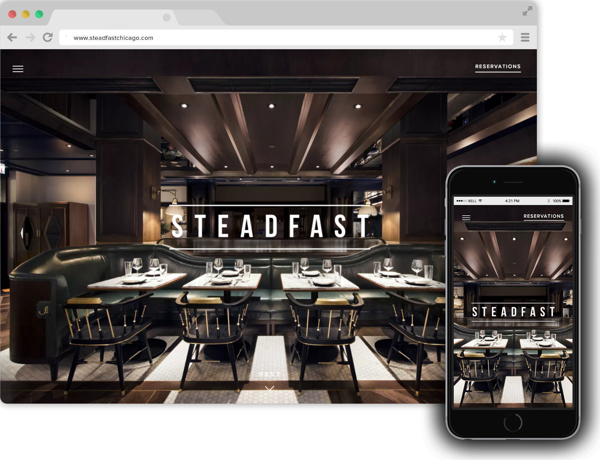 Best restaurant website design fine dining bentobox