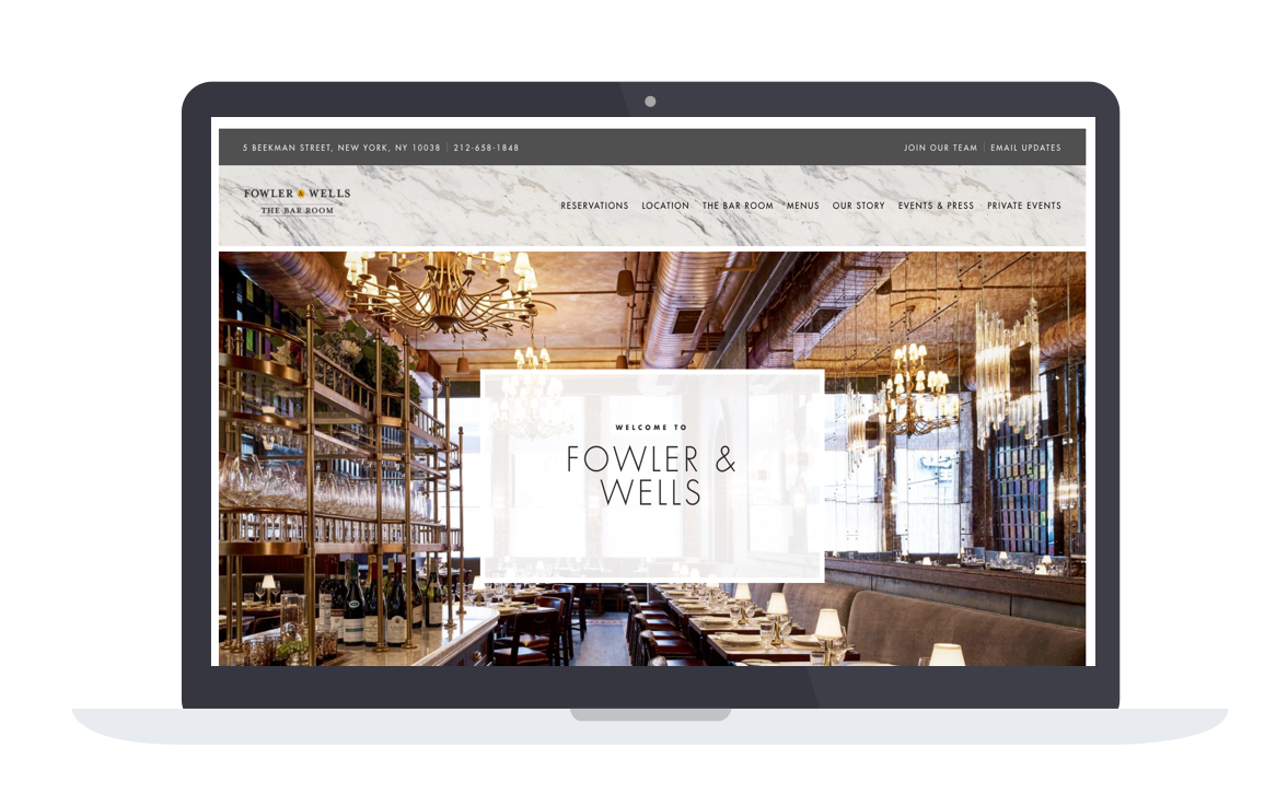 crafted hospitality fowler and wells new website