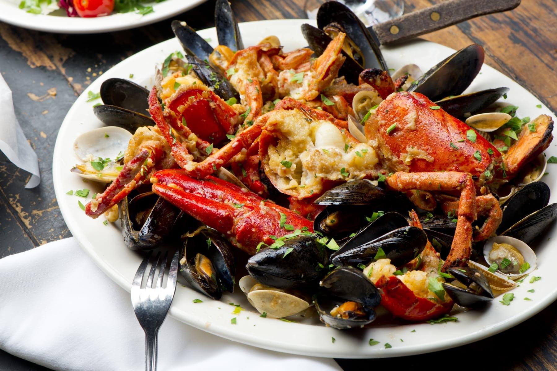 lobster dish served at patrizias