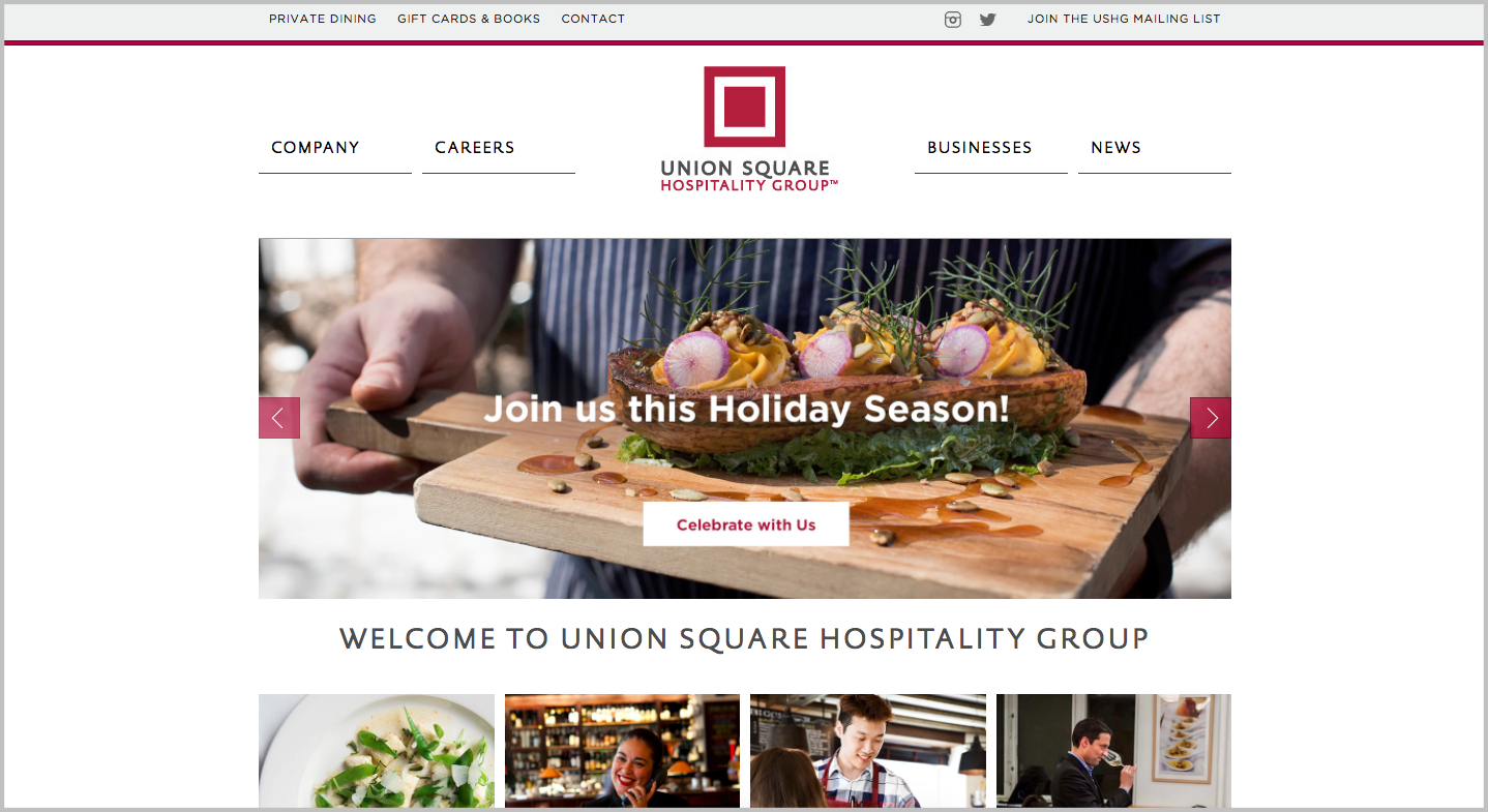 great private events union square hospitality group bentobox ushg holiday events