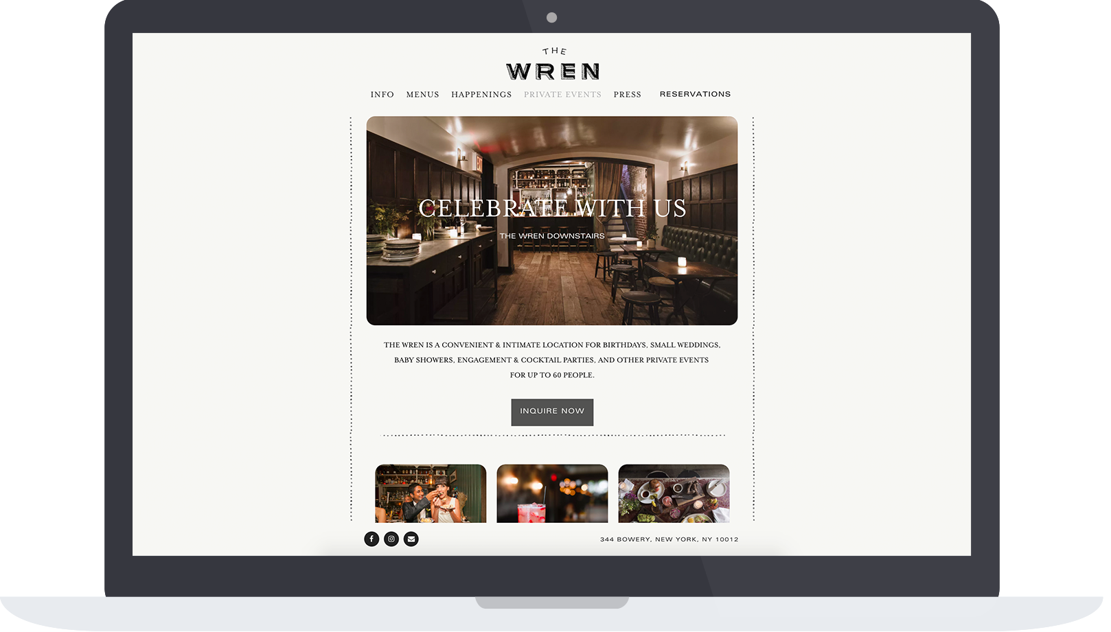 The Wren private events