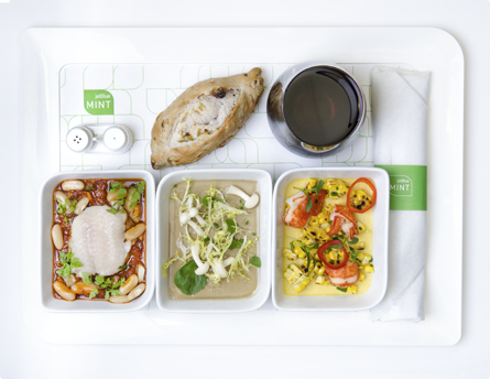 airline meal from JetBlue Mint class