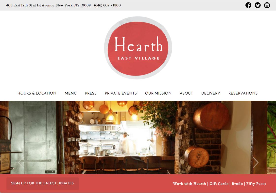 Restaurant Hearth